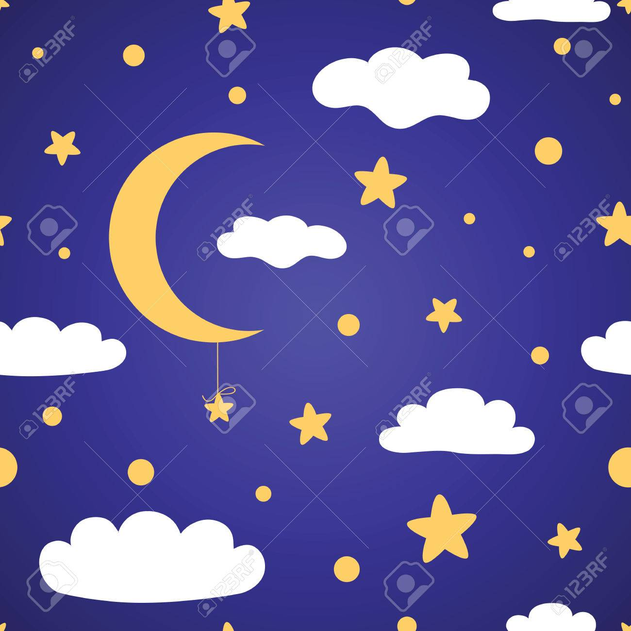 vector seamless pattern with night sky stars clouds and moons rh 123rf com starry night sky vector watercolor night sky vector