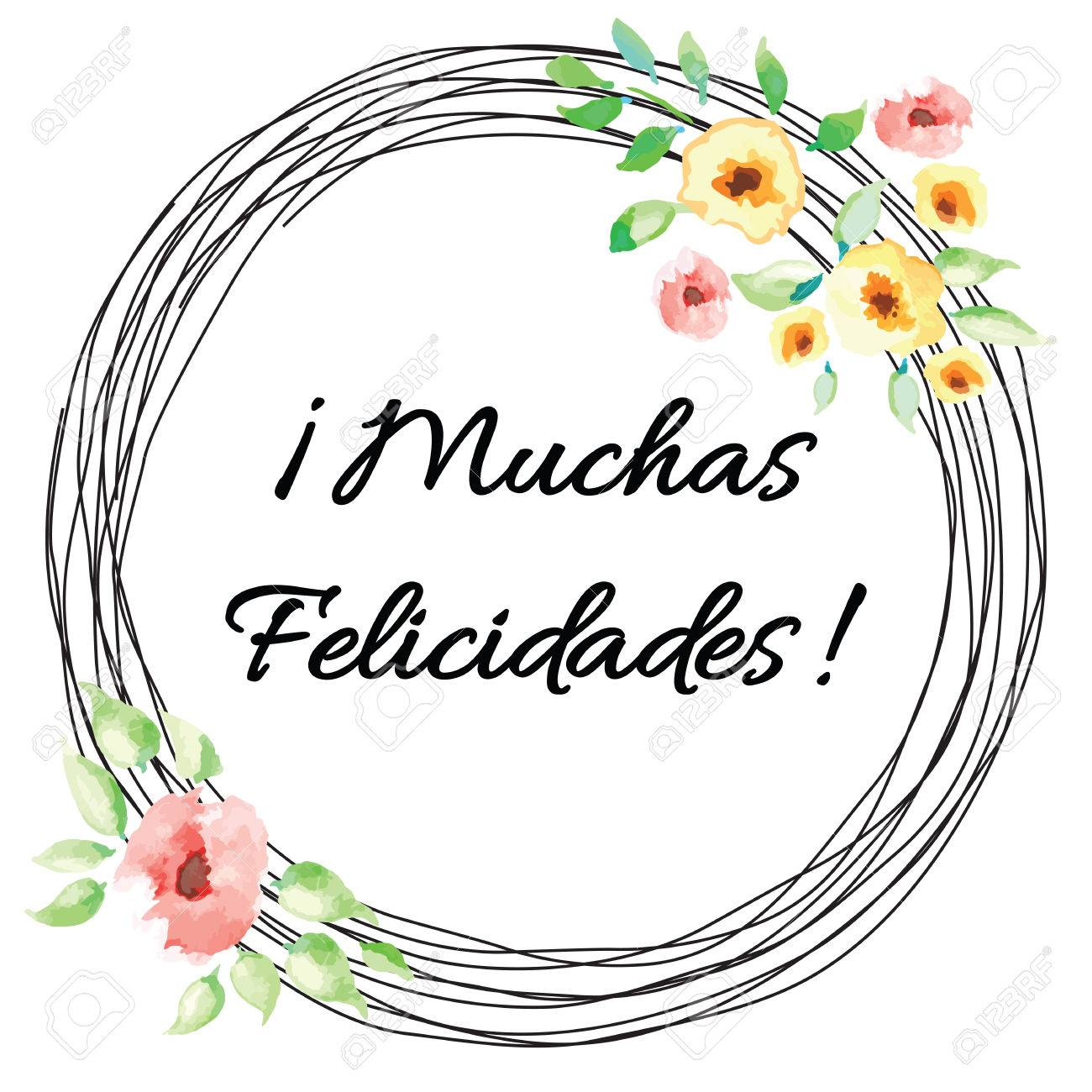 Bannière De La Typographie Vectorielle Avec Le Texte Félicitations Titre En Espagnol Carte De Mariage Ou Danniversaire