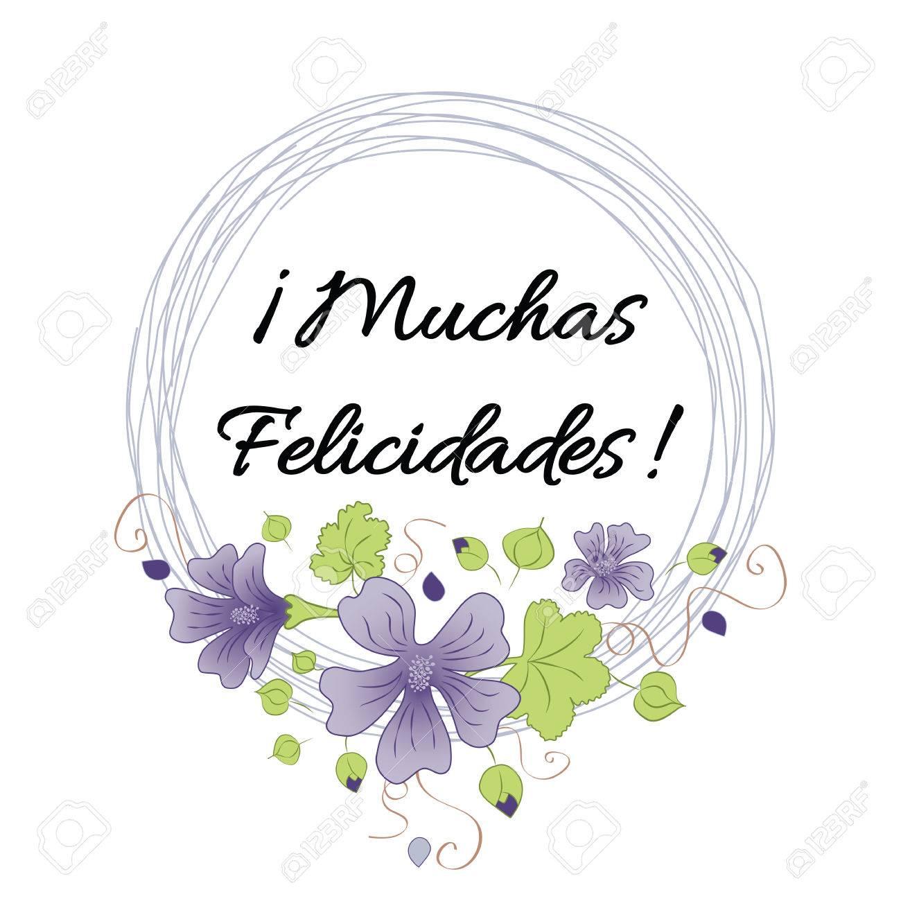 Feliz Cumpleaños Banner Con Texto Felicitar El Título En Español ...