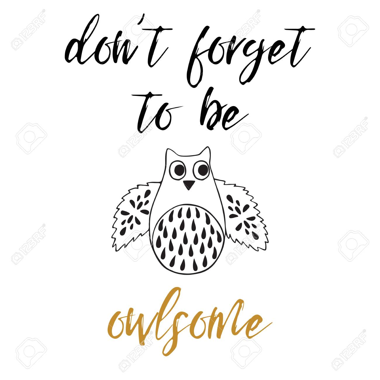 Dont forget to be owlsome funny greeting card with funny quote funny greeting card with funny quote owl for m4hsunfo