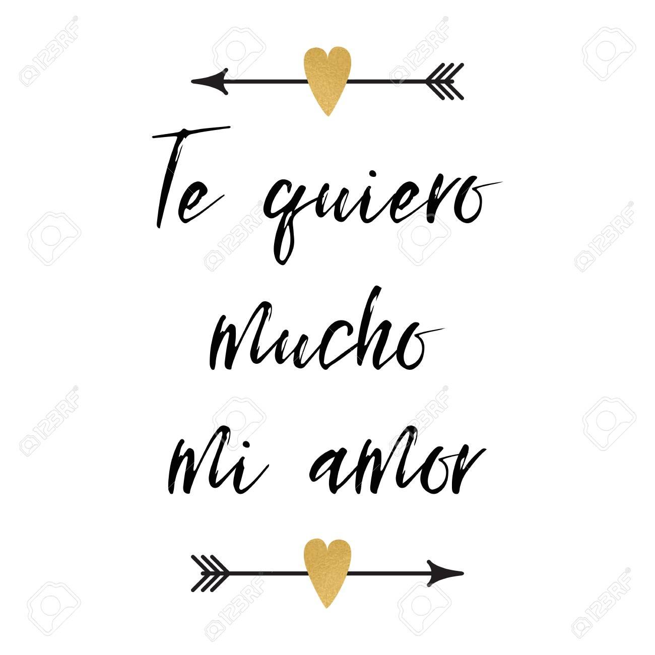 Cartão De Dia Dos Namorados Com Frase Positiva Decorado Logotipo De Corações Setas Abstratas Sinal Impressão De Título Em Espanhol