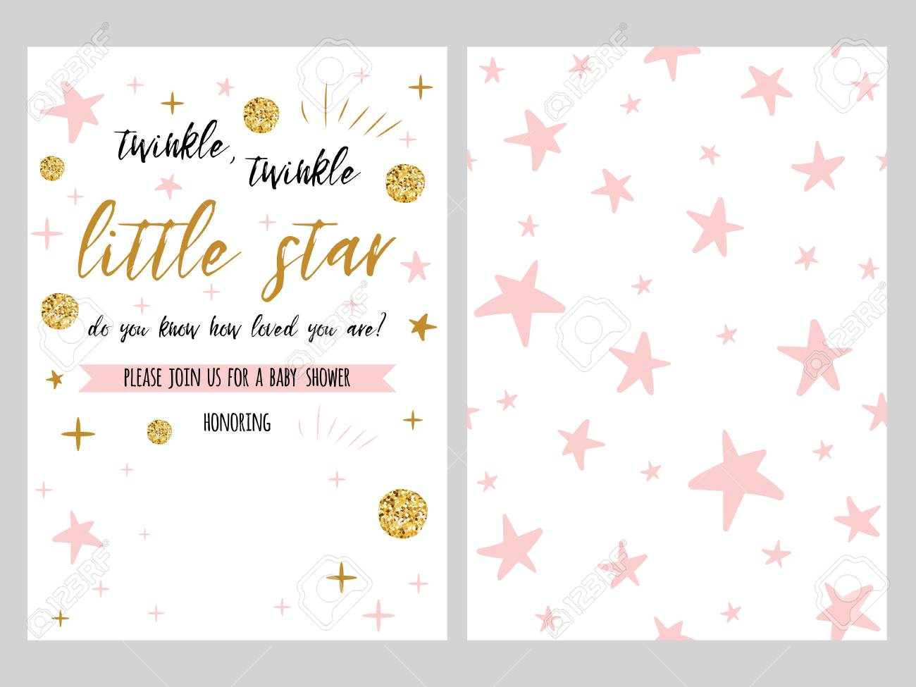 graphic about Free Printable Twinkle Twinkle Little Star Baby Shower Invitations identify Little one shower invitation template, backgtround with purple celebrities..