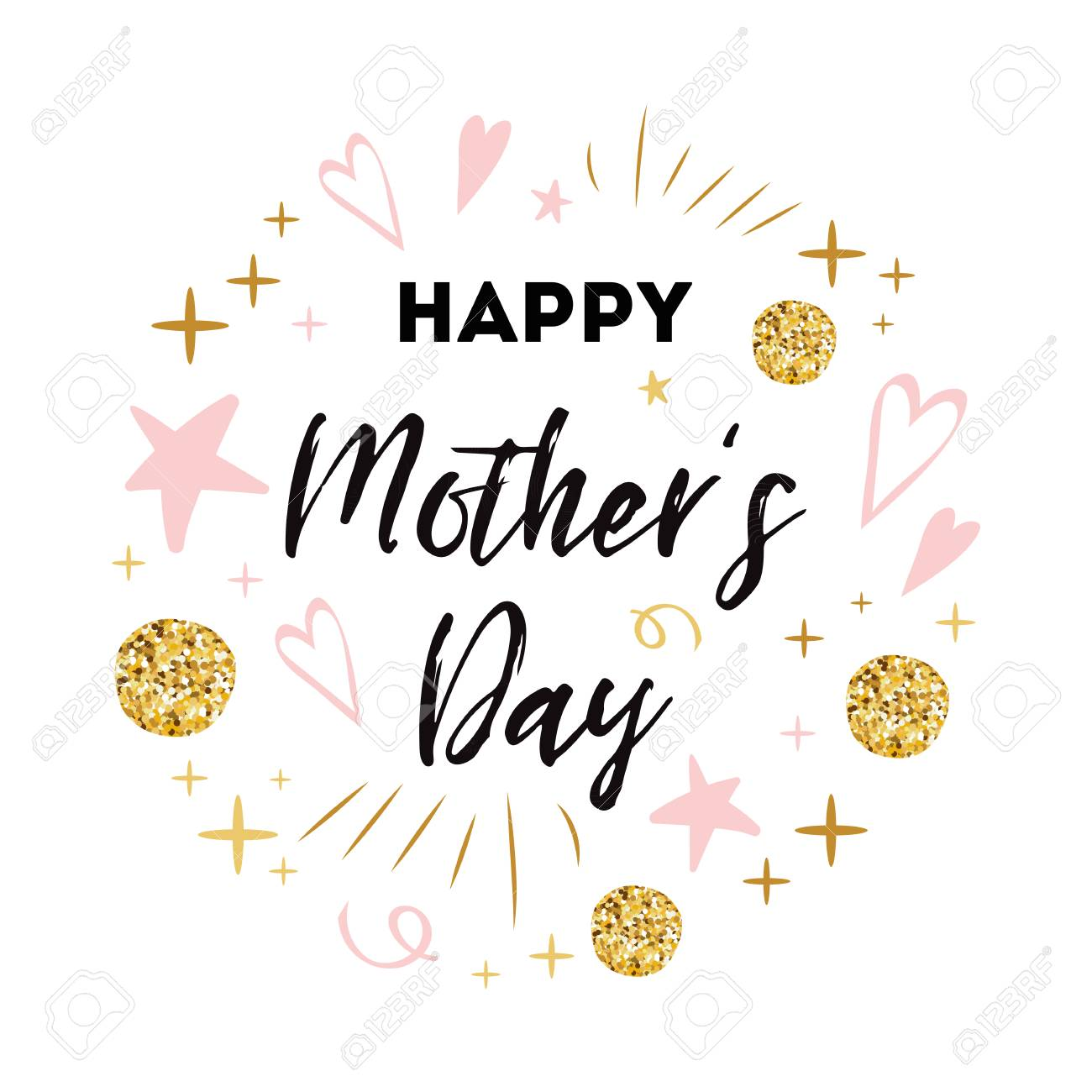 photograph relating to Happy Mothers Day Printable Card referred to as Moms Working day vector greeting card. Words and phrases satisfied moms working day Intimate..