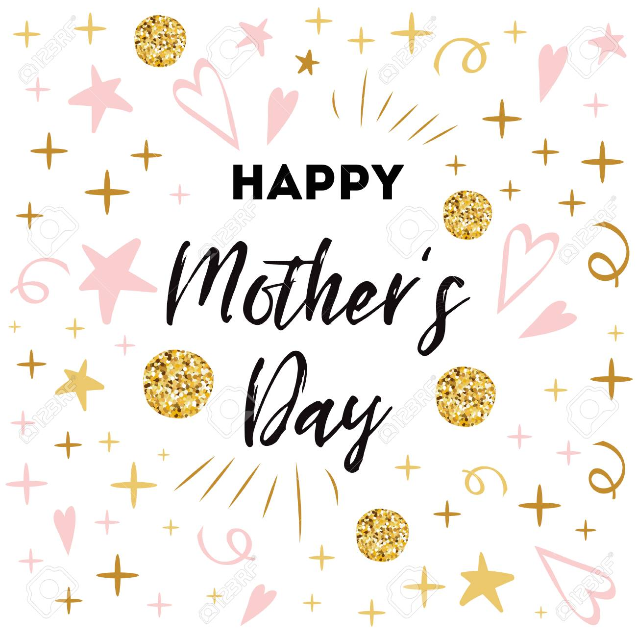 graphic relating to Happy Mothers Day Printable called Moms Working day vector greeting card. Terms pleased moms working day Intimate..