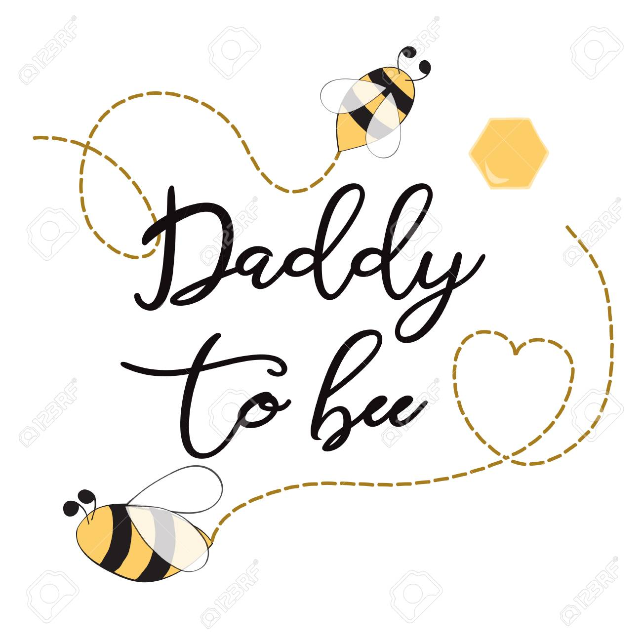 Baby shower invitation template with text daddy to bee cute card baby shower invitation template with text daddy to bee cute card design for mothers day bees filmwisefo