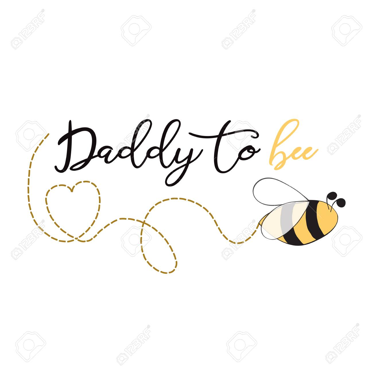 fathers day banner design with text daddy to bee decorated trace