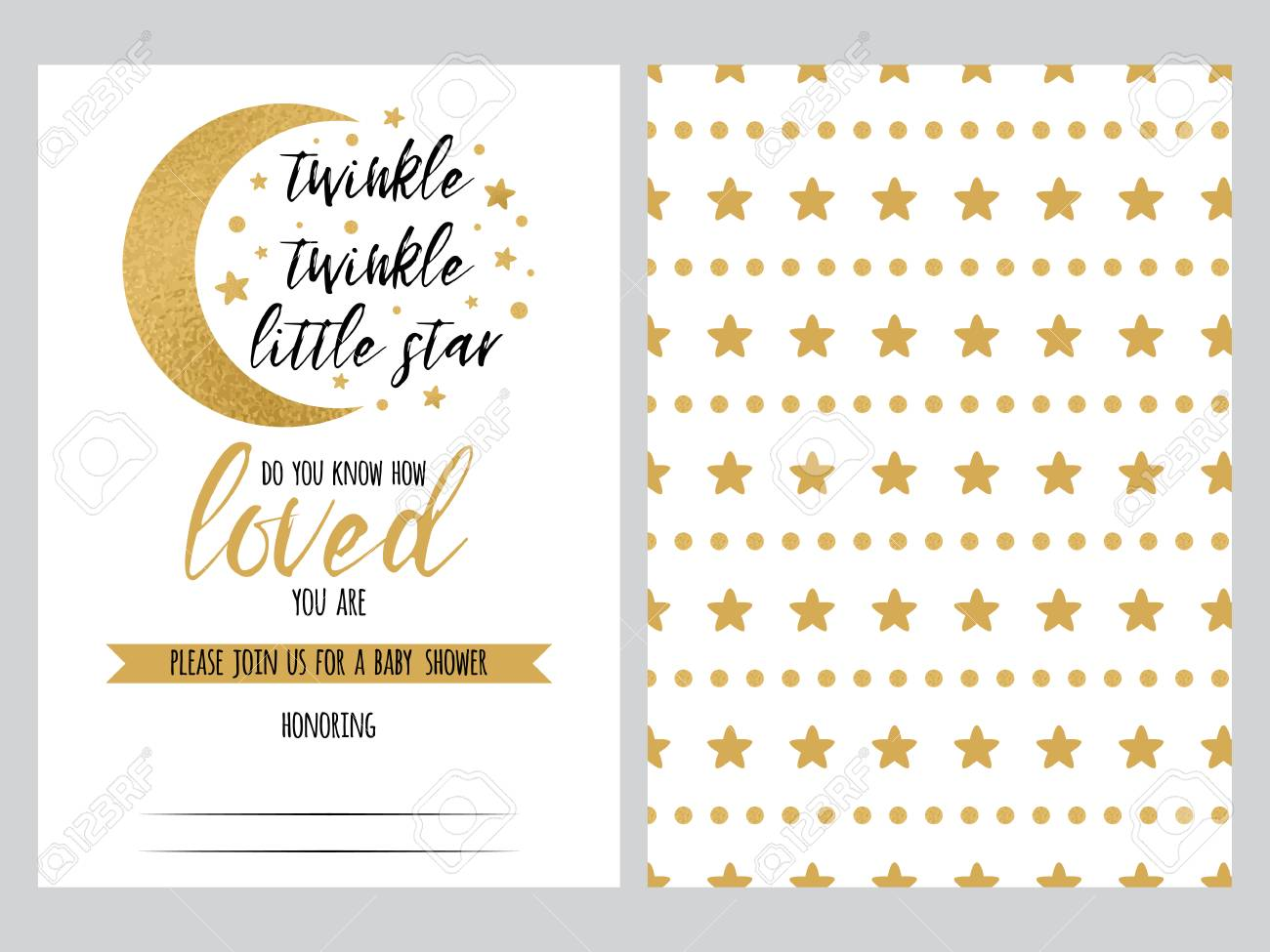 Baby Shower Invitation Template Twinkle Little Star With Sparkle