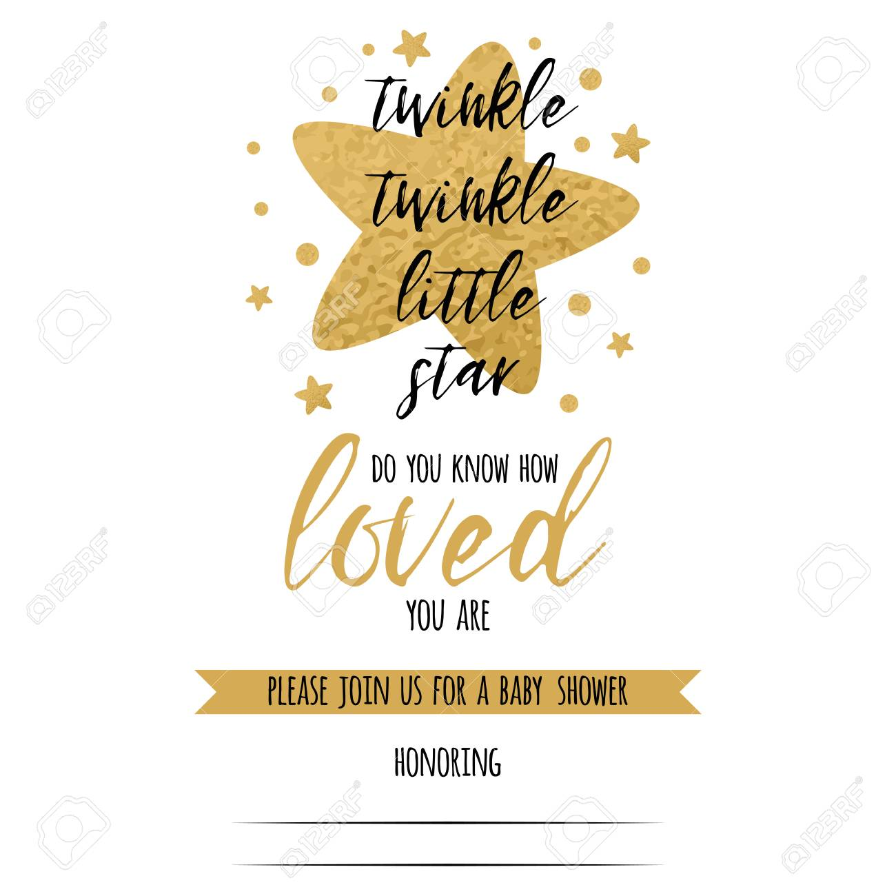 Twinkle Twinkle Little Star Table Number Cards Instant Download