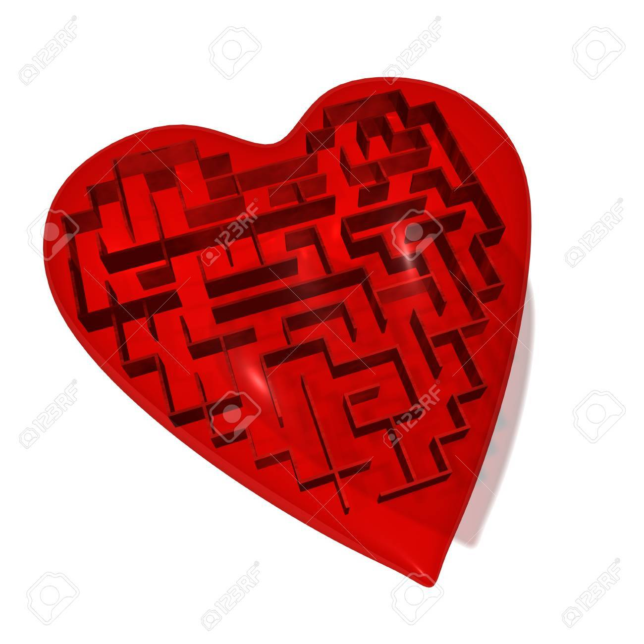 Heart maze Stock Photo - 8603847
