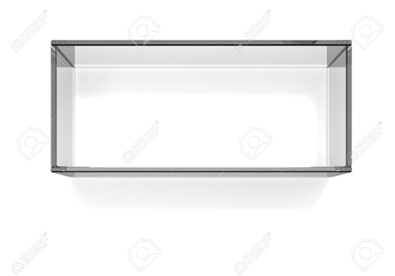 Square dark glass shelf Stock Photo - 15231844