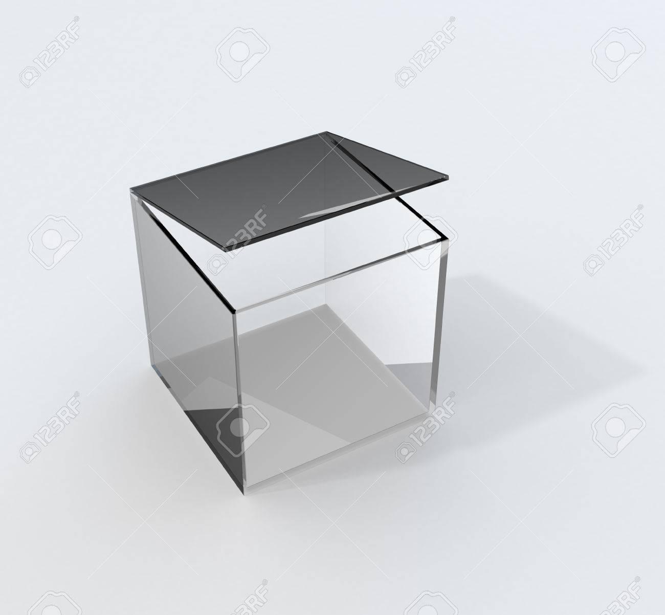 Glazen Kubus Met Foto.Gea Soleerde Grijze Glazen Kubus Met Deksel