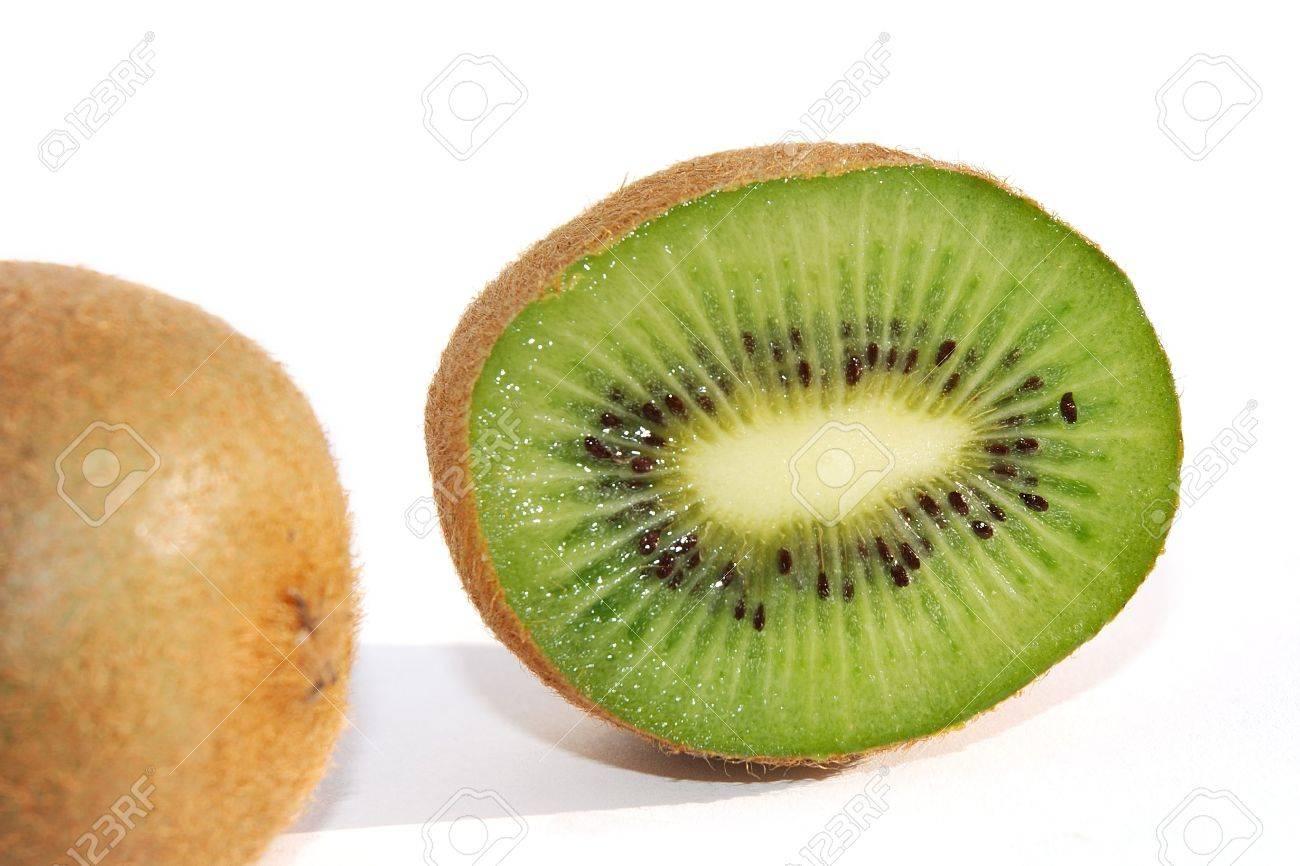 Close shot of a kiwifruit cut in half Stock Photo - 778158