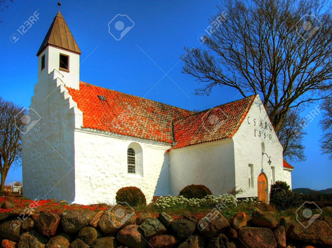 Church In Denmark In Scandinavia. Christian Place Of Worship ...