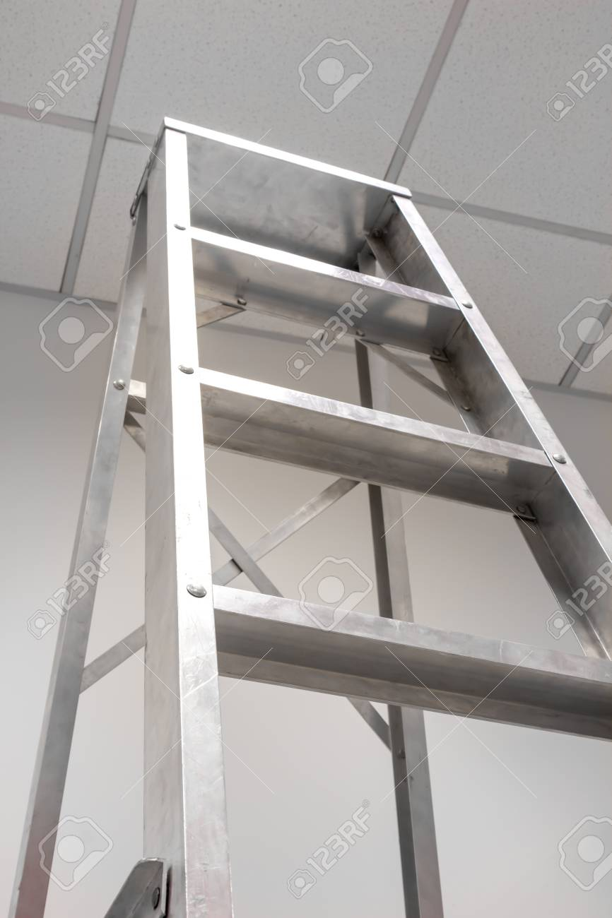 Aluminum Staircase Fold Equipment Stock Photo   16163802