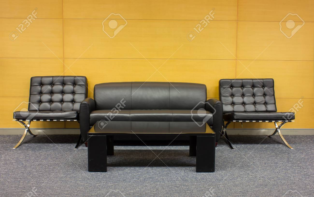 The sofa which is put in modern buildin Stock Photo - 20916985