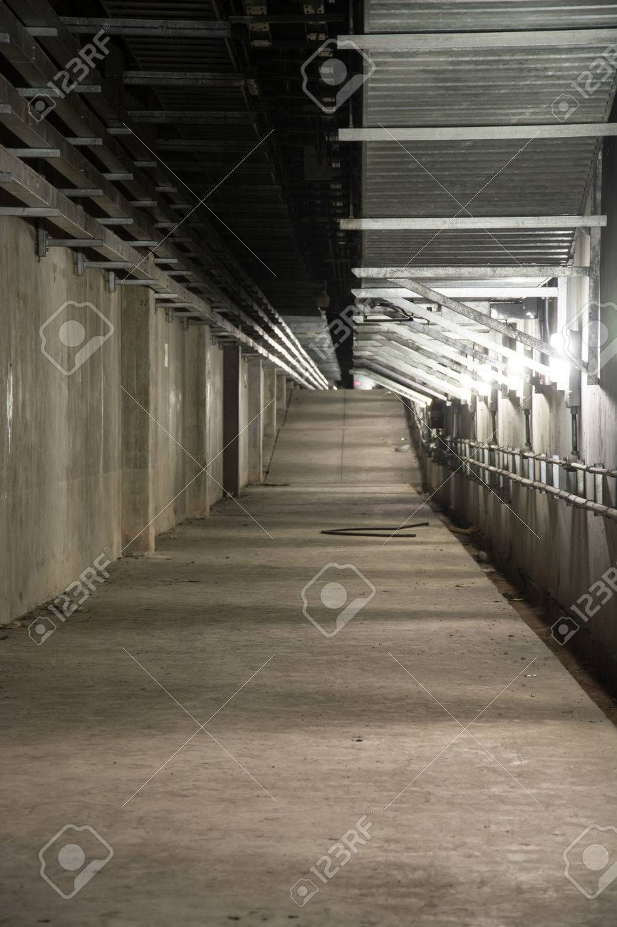 High Quality Empty Industrial Garage Room Interior With Concrete Floor And Wall  Background Stock Photo   44277664