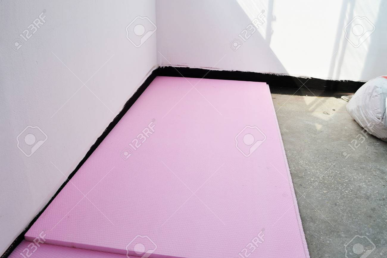 Extruded Polystyrene Foam Boards Laid On Balcony Concrete Floor Stock Photo Picture And Royalty Free Image Image 59623890