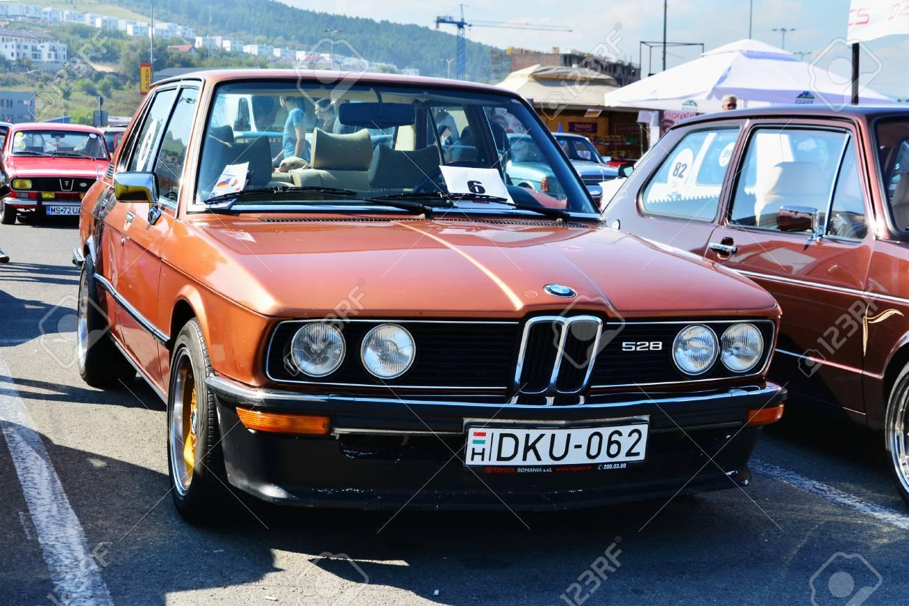 CLUJ-NAPOCA, ROMANIA - SEPTEMBER 24, 2016: German BMW E12 528