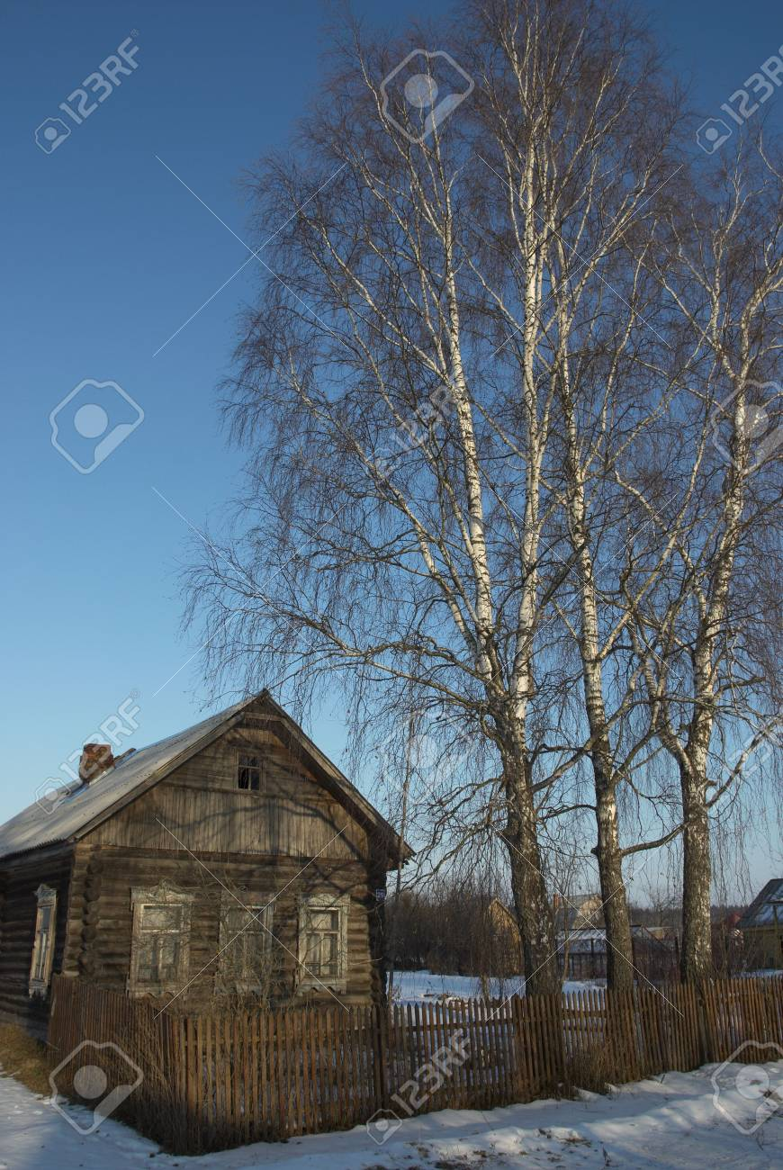 The old wooden house being in Russian village Stock Photo - 4718869