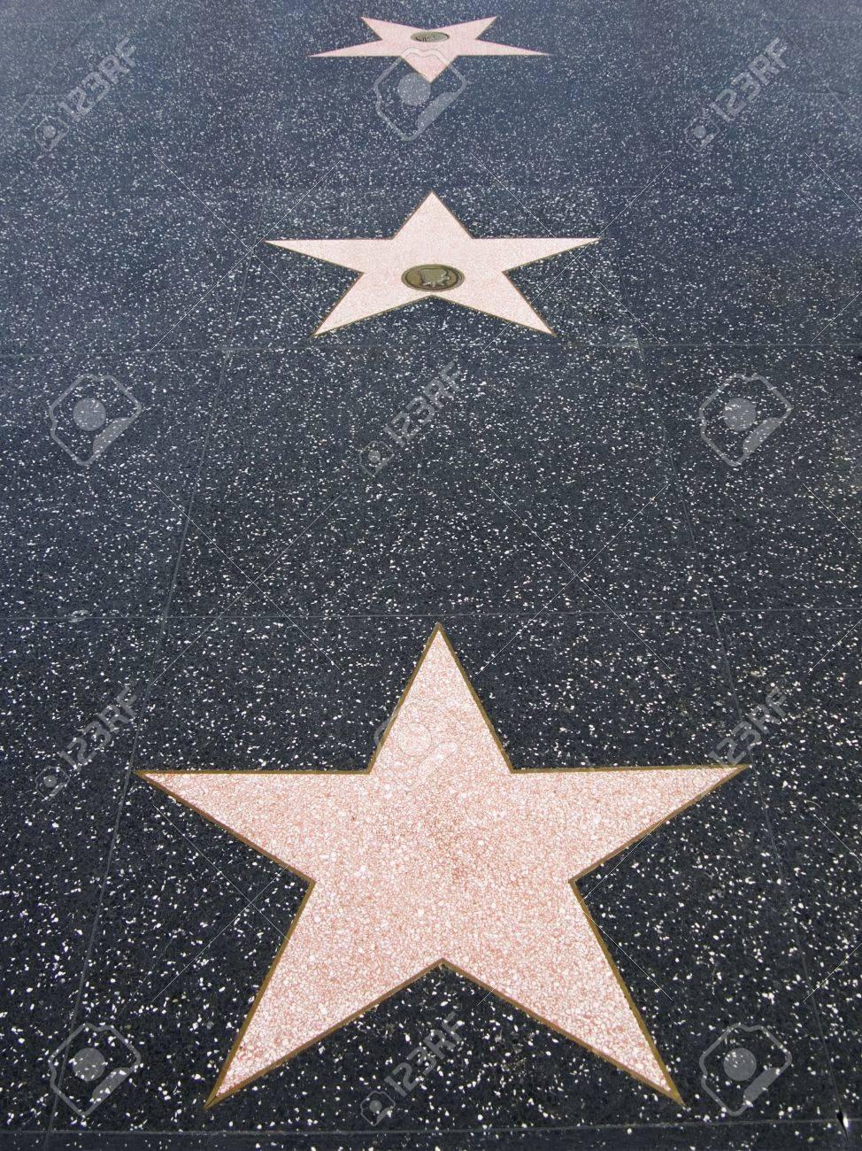 Hollywood Walk of Fame Stars Stock Photo - 2681616
