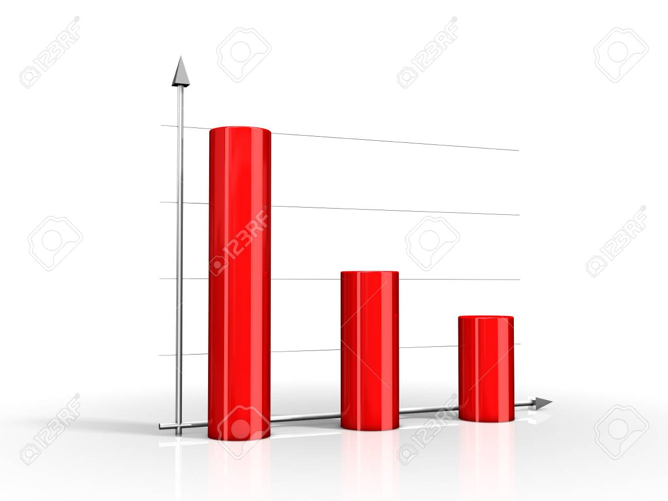 Red diagram on white background Stock Photo - 2864406