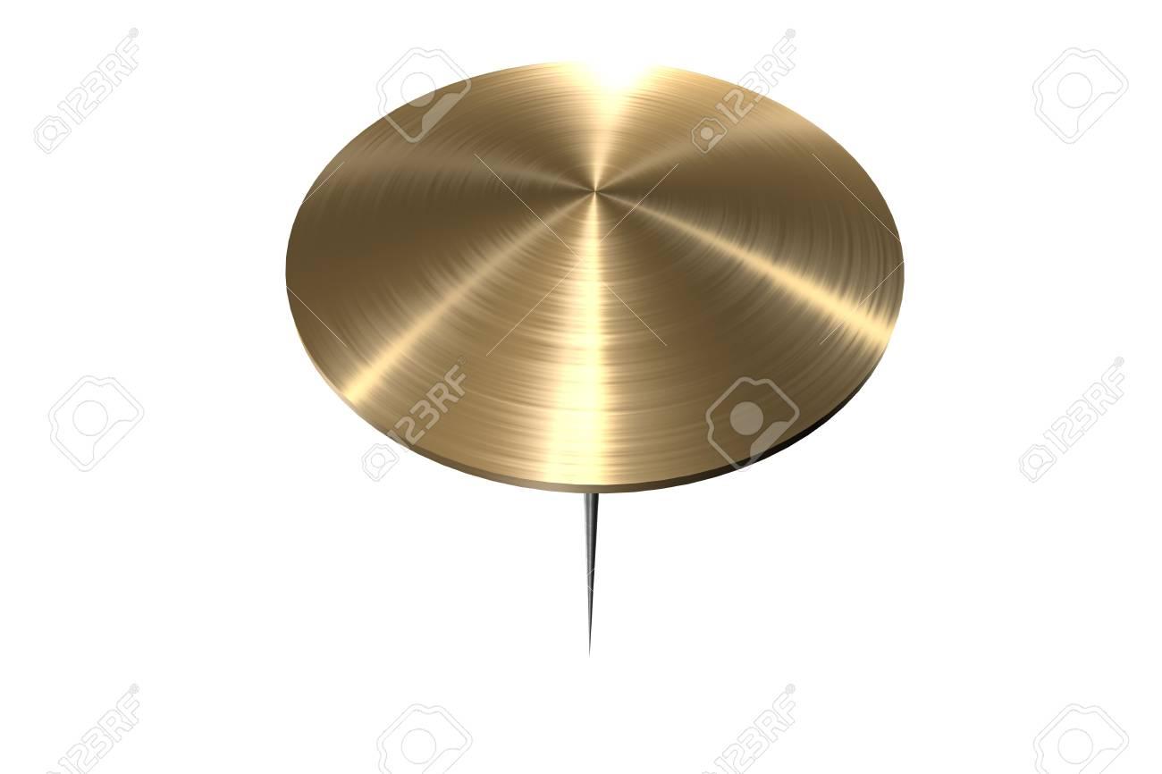 gold tack on white background Stock Photo - 3494991