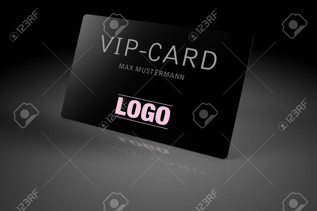 VIP card isolated over black background Stock Photo - 3682642