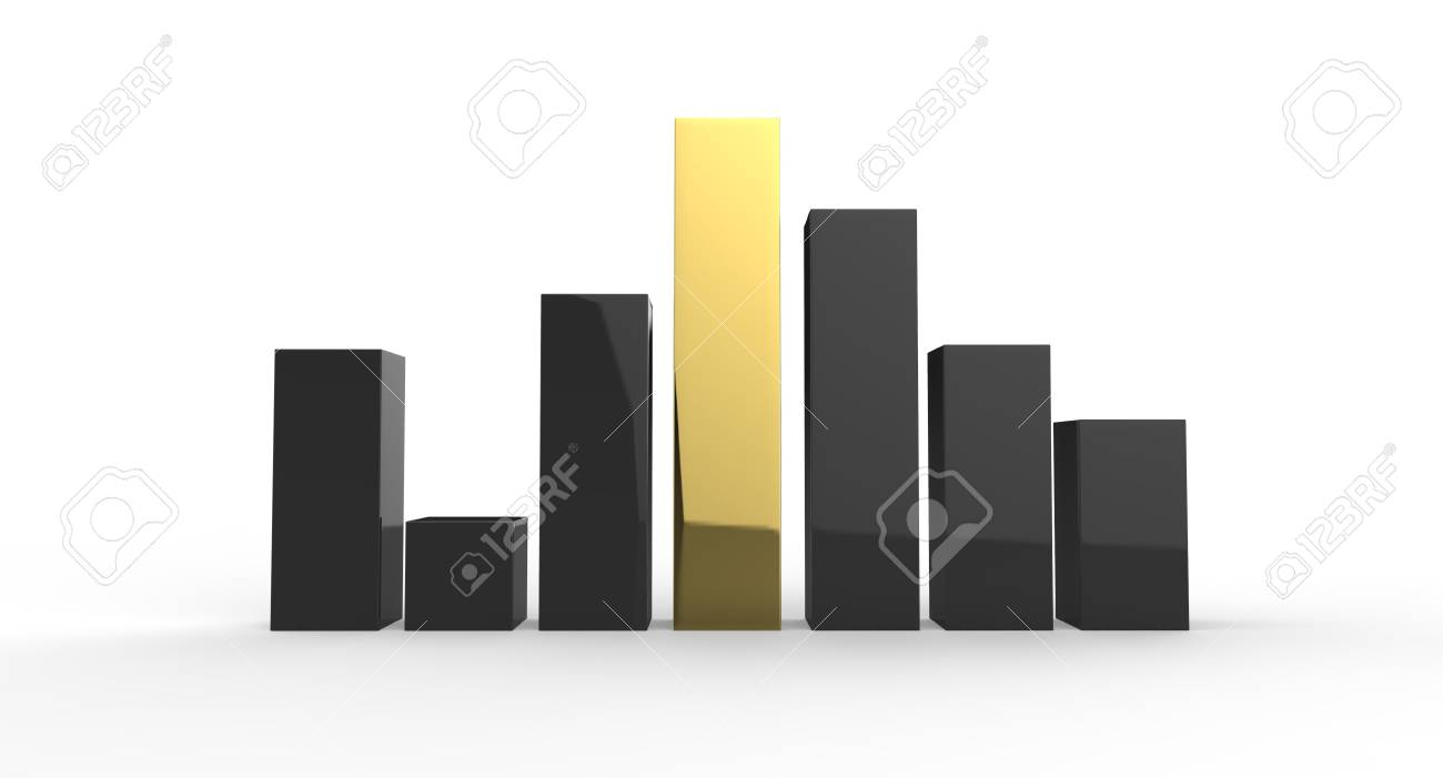 Bar chart showing challenges and growth Stock Photo - 17266731