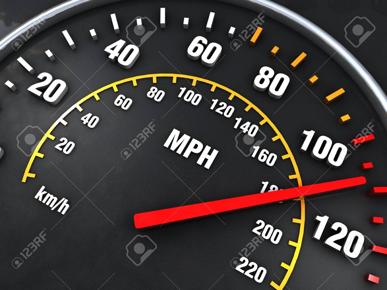 Speedometer close up with vibrant colors Stock Photo - 17433081