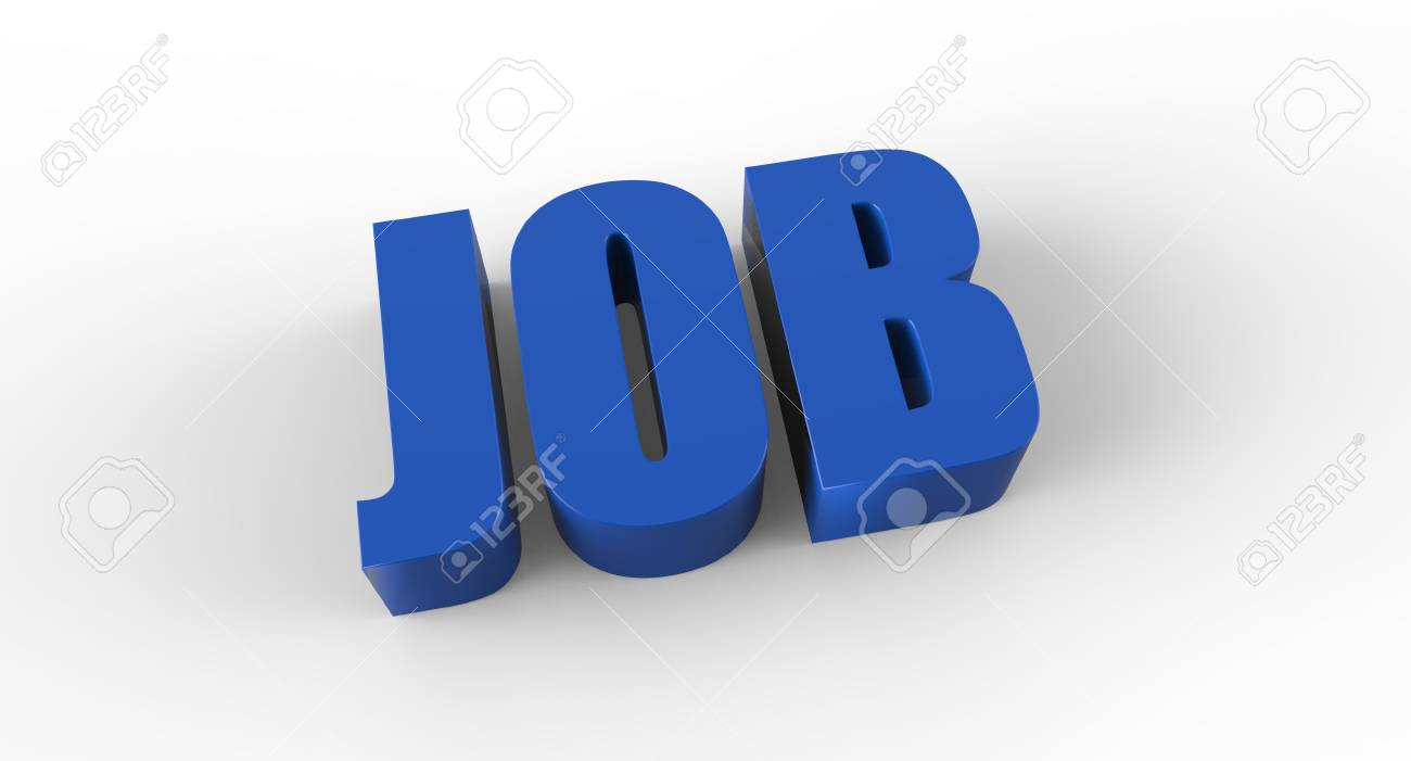 Three dimensional sign for job Stock Photo - 17433148