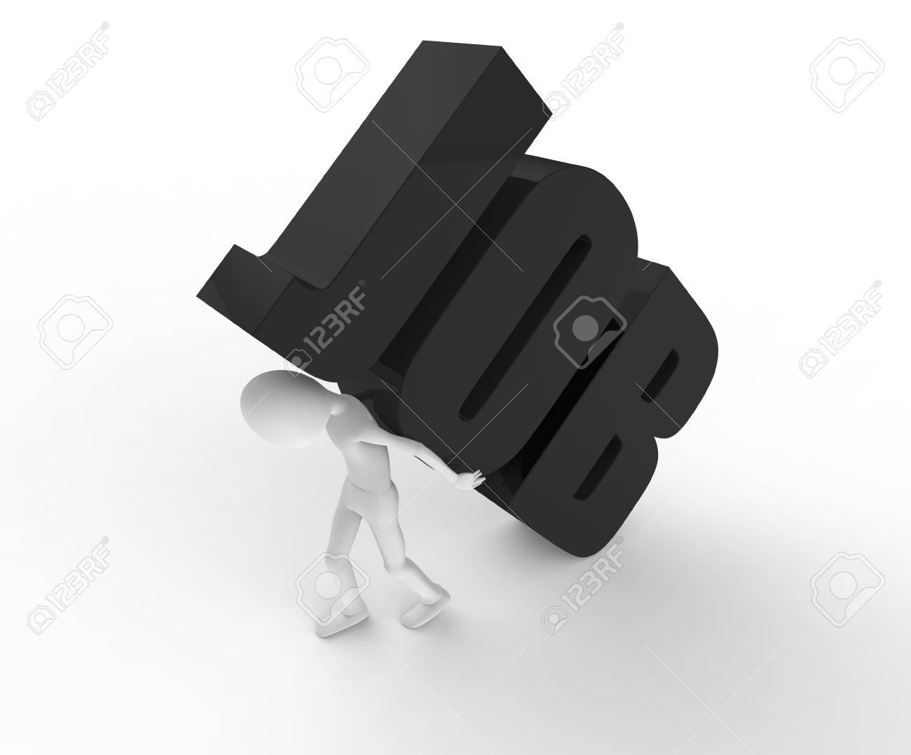 Person walking while carrying a heavy job Stock Photo - 17572846