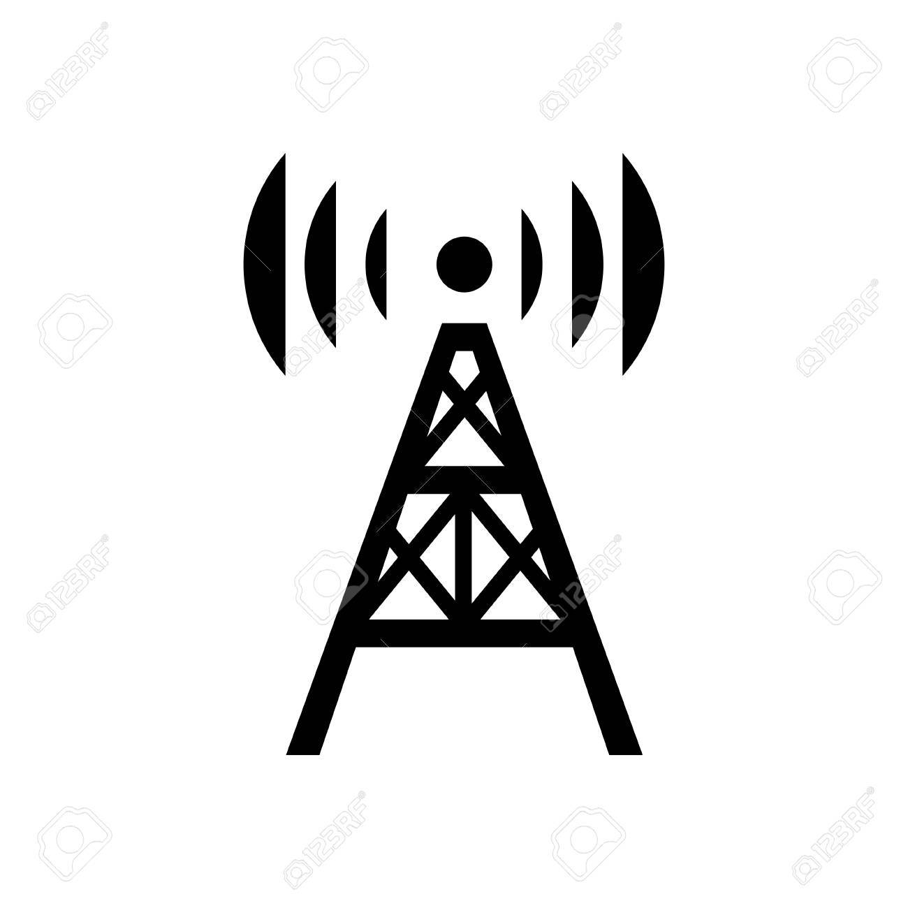 radio tower icon royalty free cliparts vectors and stock rh 123rf com Radio Antenna Clip Art Radio Signal Clip Art