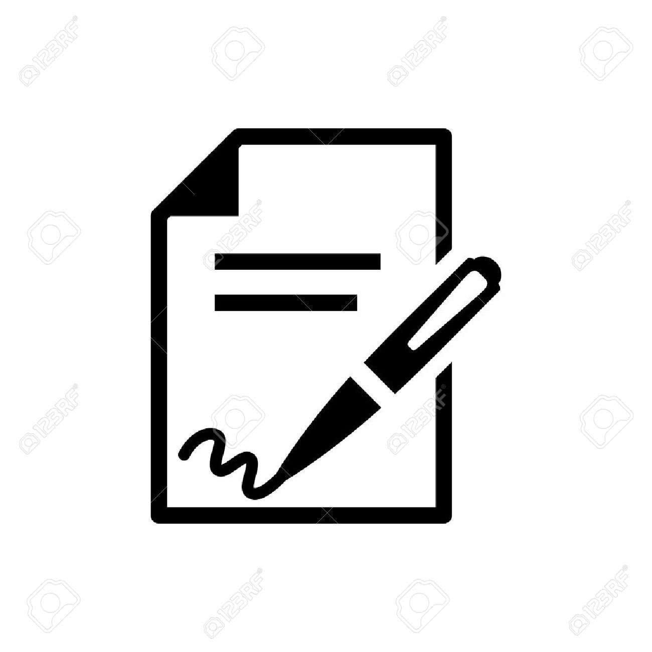 signing contract icon - 45803598
