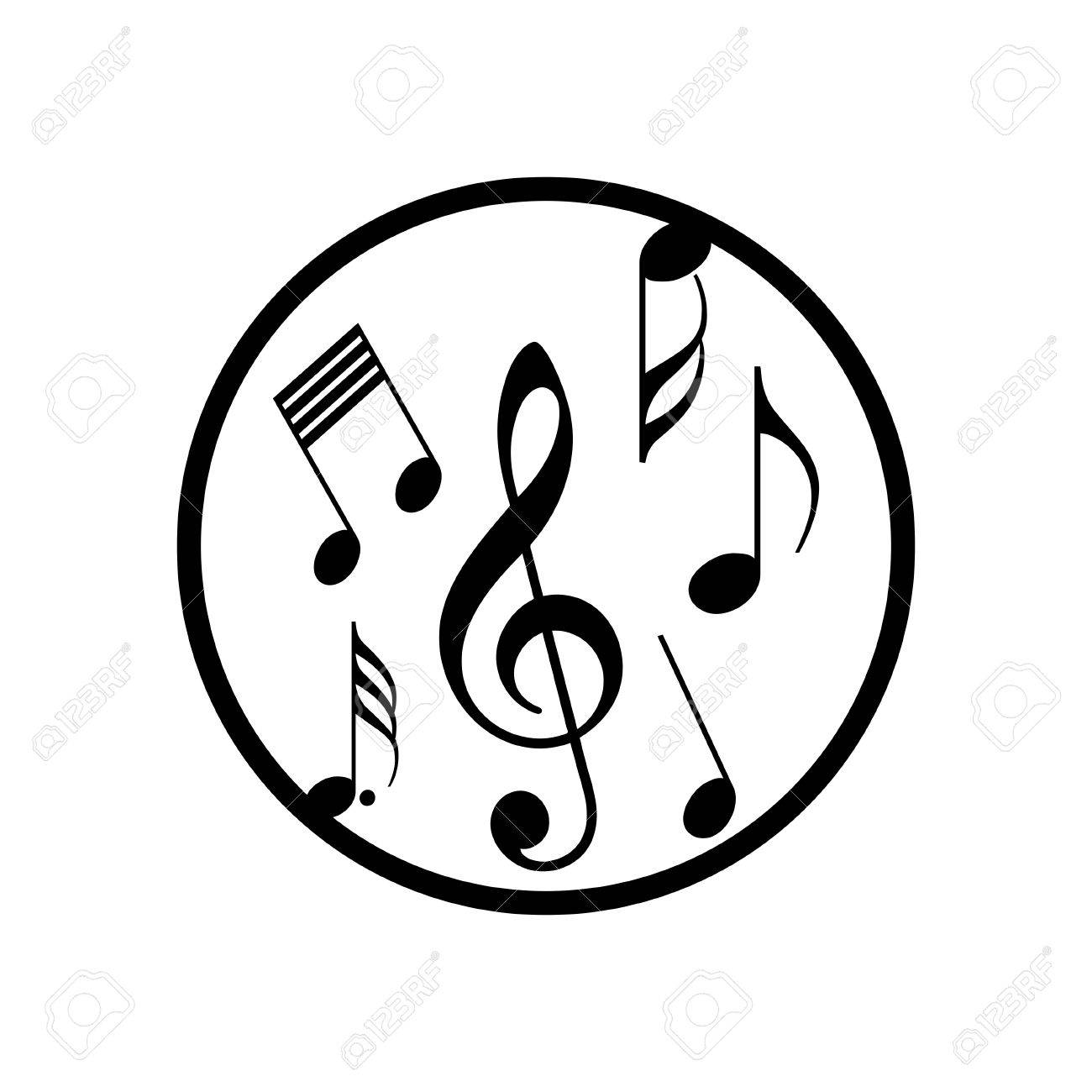 Music Note Icon Royalty Free Cliparts Vectors And Stock