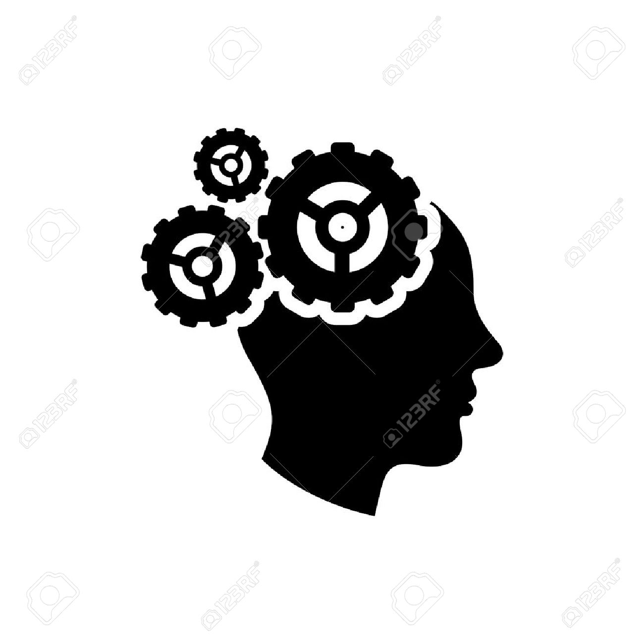 Gear brain icon royalty free cliparts vectors and stock gear brain icon stock vector 45814879 biocorpaavc Images
