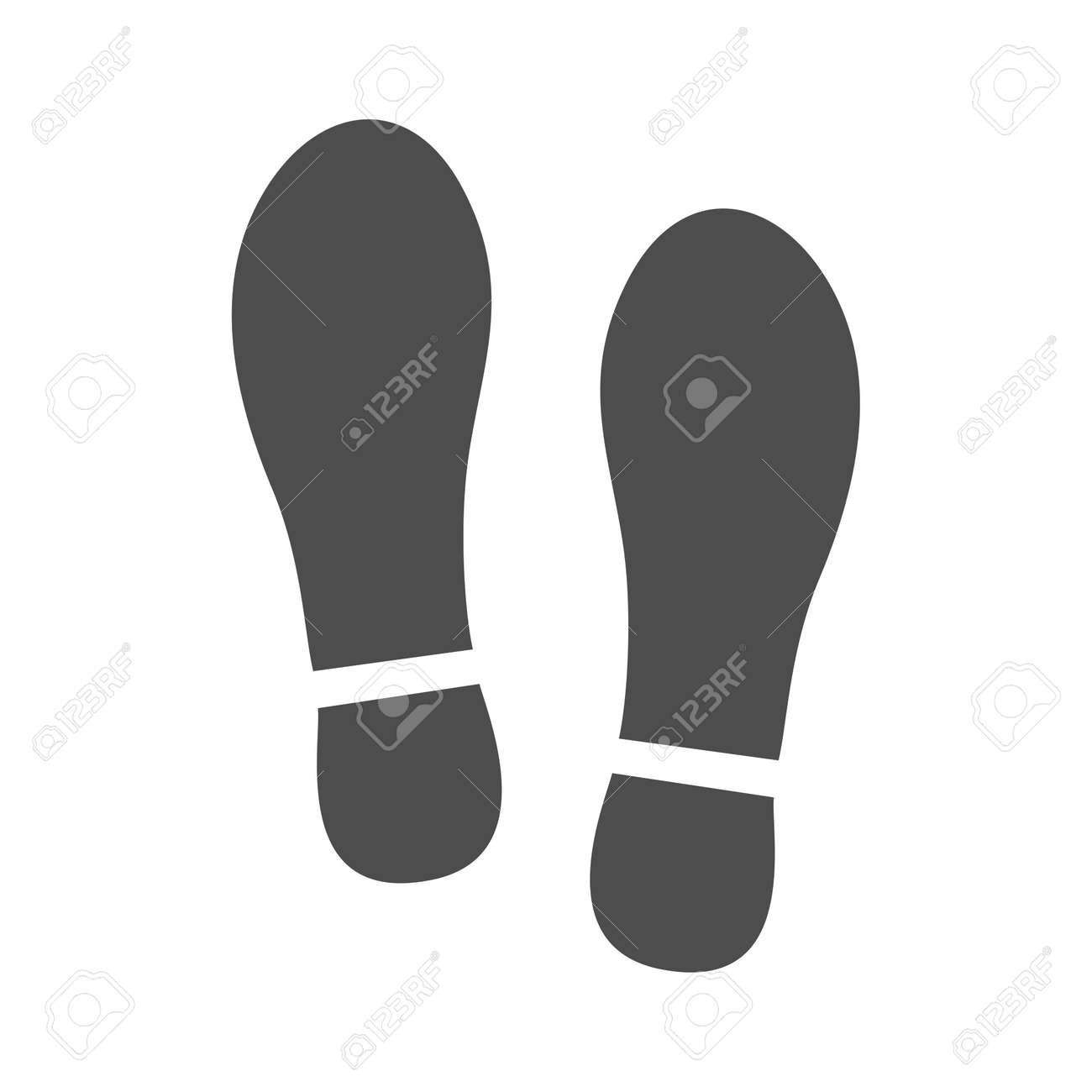 Imprint soles shoes sign icon. Shoe print symbol - 157290588