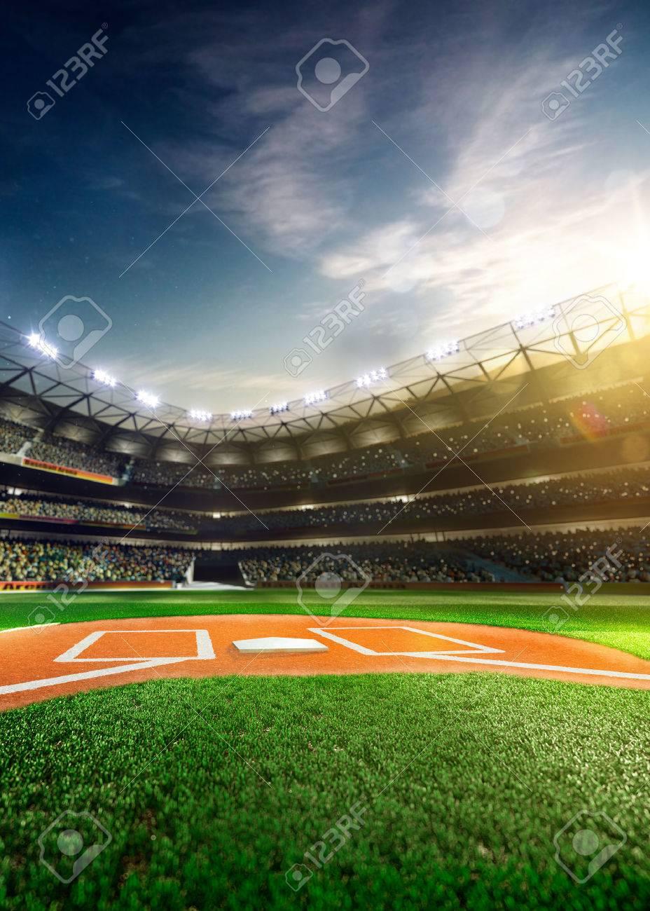 太陽の下でプロ野球グランド アリーナ の写真素材・画像素材 Image ...