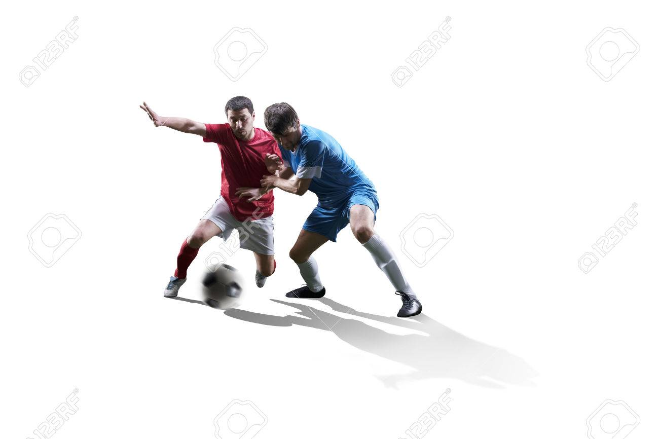 football soccer players in action isolated on white background - 60766945