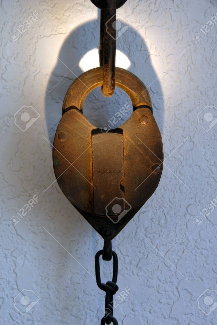 Old Rusty Padlock Representing Timeless Security Stock Photo - 2274439