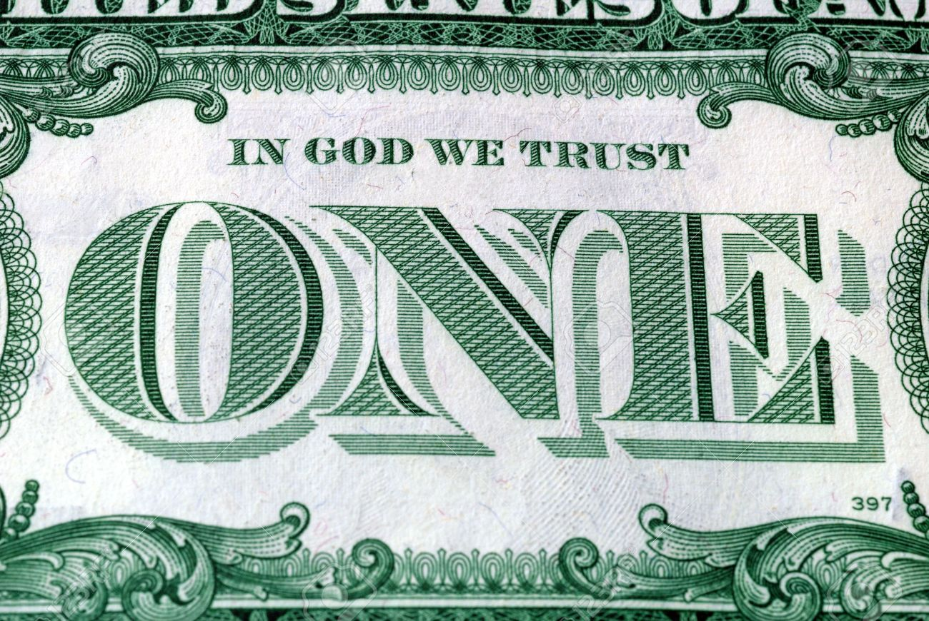 In God We Trust Motto s on the reverse of a US Dollar Bill Stock Photo - 3420887
