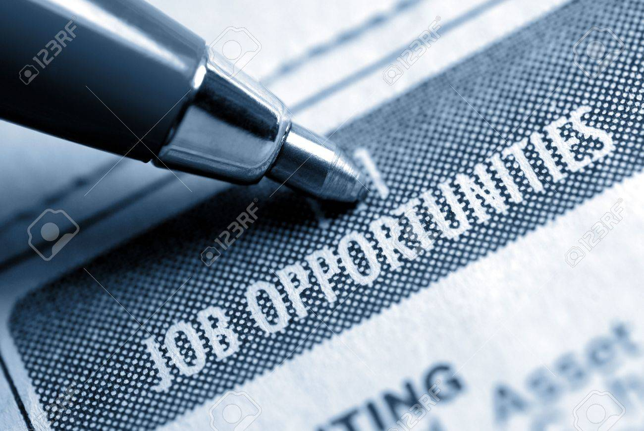 Job Opportunity Classified Advertising with Pen, Muted Duotone Stock Photo - 3420871
