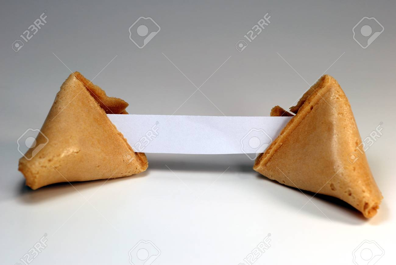 Fortune cookie with blank copy space. Stock Photo - 4367439