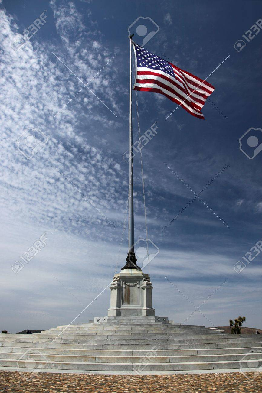 American Flag at an American National Military Cemetery Stock Photo - 10255785