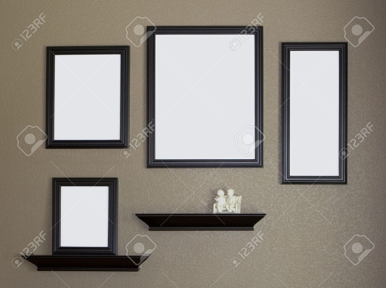 Wall Photo Frames Collage wall frames images & stock pictures. royalty free wall frames