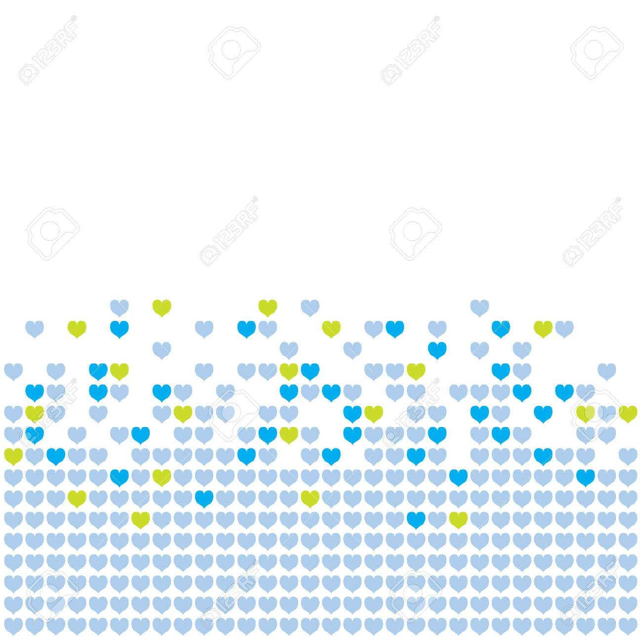 Colored hearts in a mosaic-style pattern. Stock Vector - 8348510