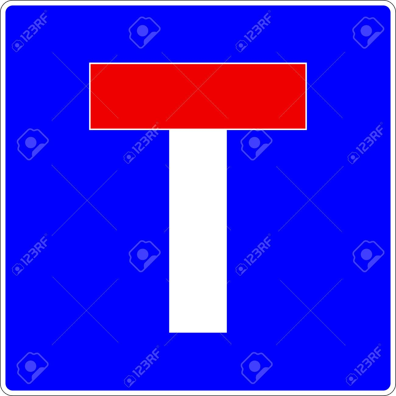 Dead End Traffic Sign Vector eps10 Stock Vector - 27029800