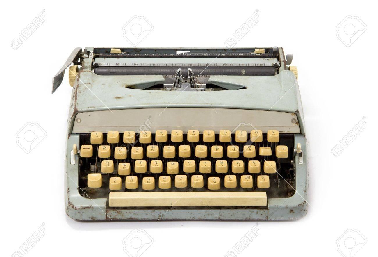Old dirty retro typewriter Stock Photo - 11860700