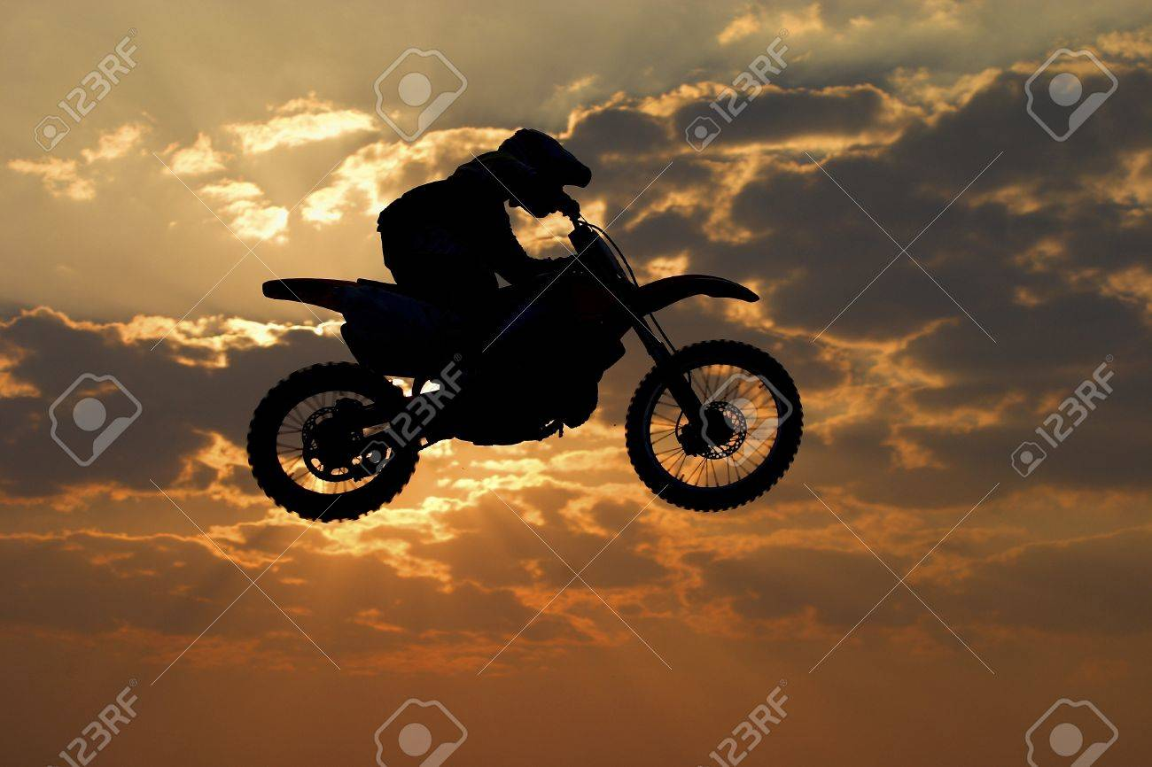 Motocross bike jump Stock Photo - 12682653