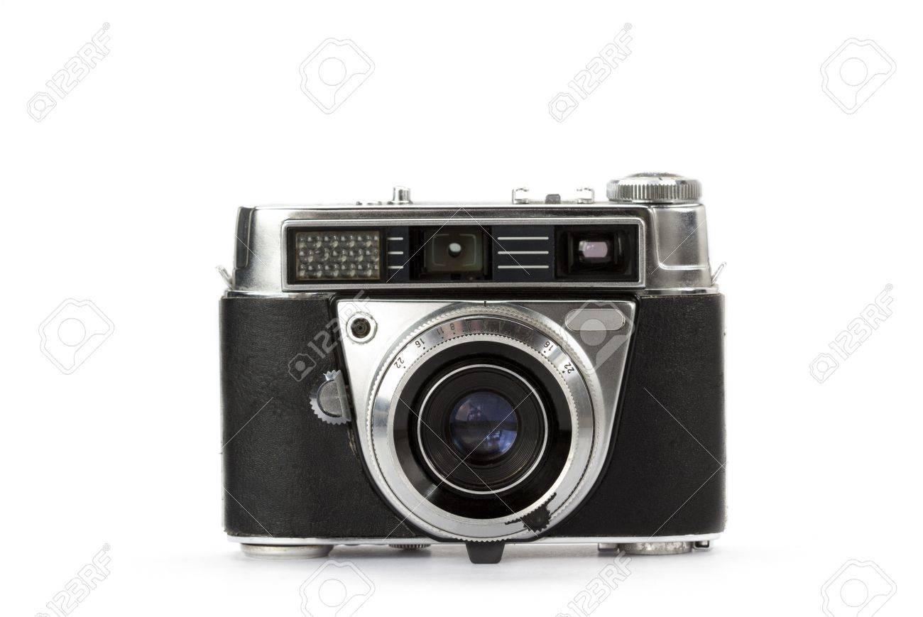 Vintage entfernungsmesser kamera auf weißem hintergrund