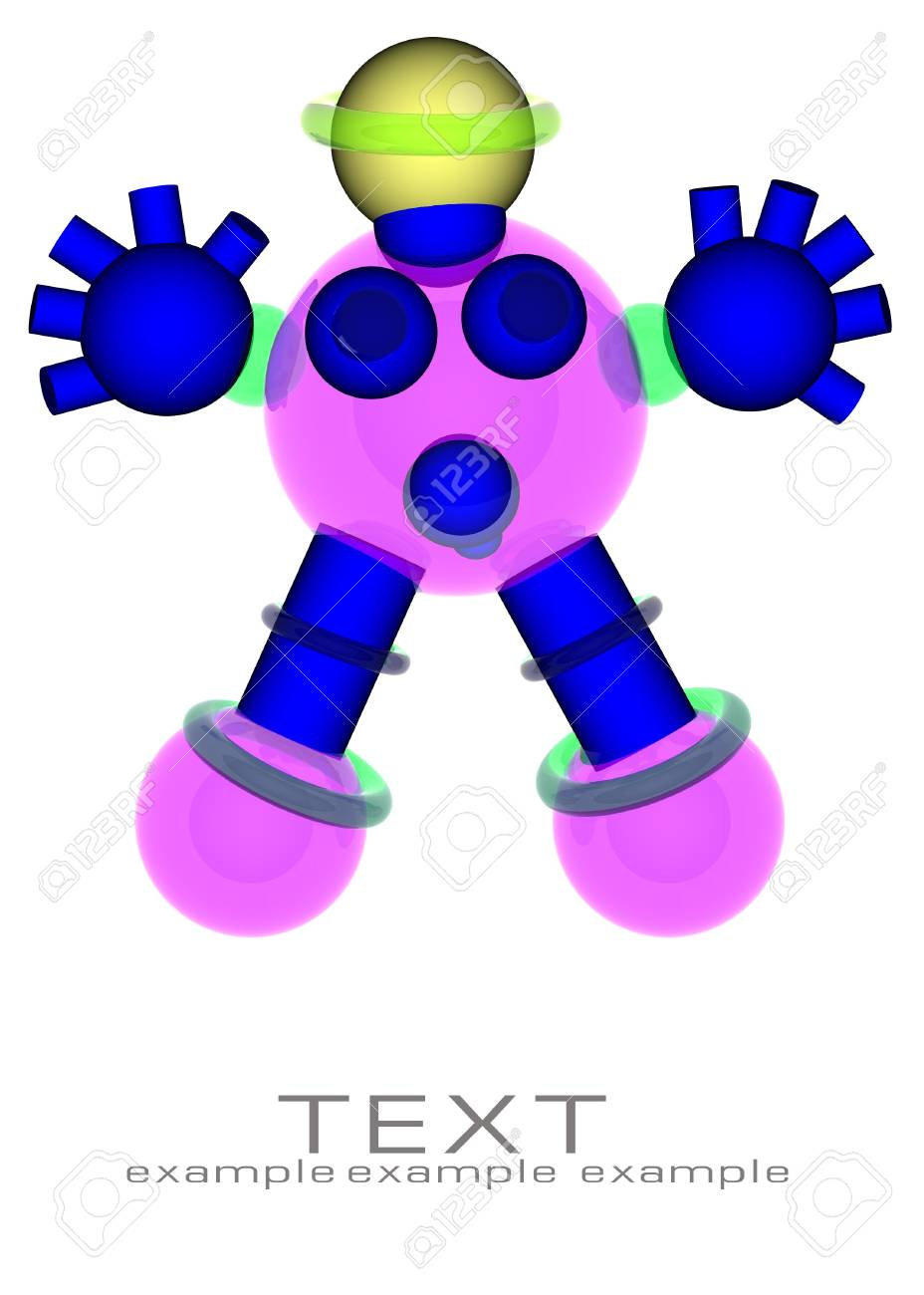 robot with space for text Stock Photo - 7713813